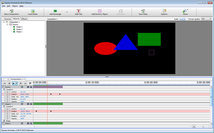 Click to view Express Animate Animation Free 3.10 screenshot
