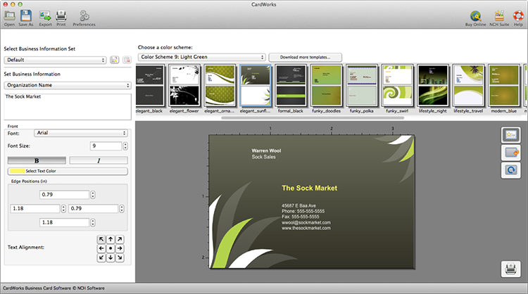 CardWorks Business Card Free for Mac Freeware