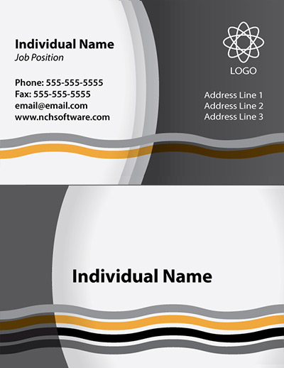 download waves business card template - Template For Business Cards