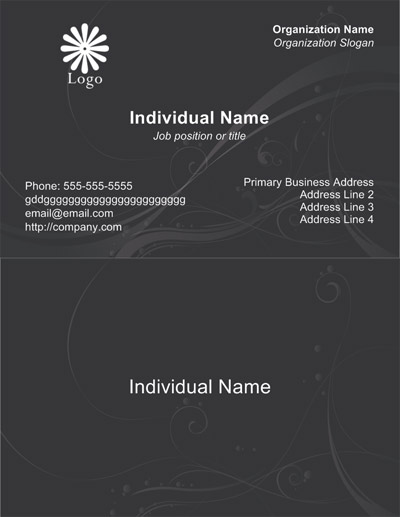 Free business card templates for cardworks business card maker black business card template accmission Image collections