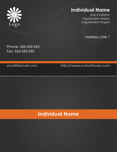 Free business card templates for cardworks business card maker download black business card template wajeb Images