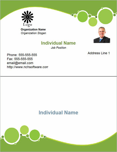 Free Business Card Templates For CardWorks Business Card Maker - Business card template with photo