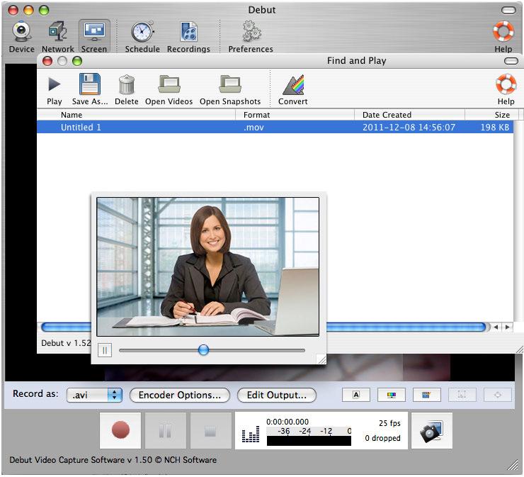 Debut Professional 6.51 Mac 破解版 视频捕获软件