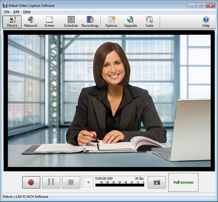 Video-Aufnahmen von Webcam, Bildschirm