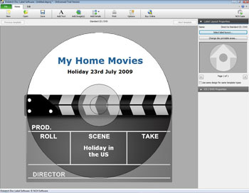 Click to view Disketch Professional CD Label Software 3.00 screenshot