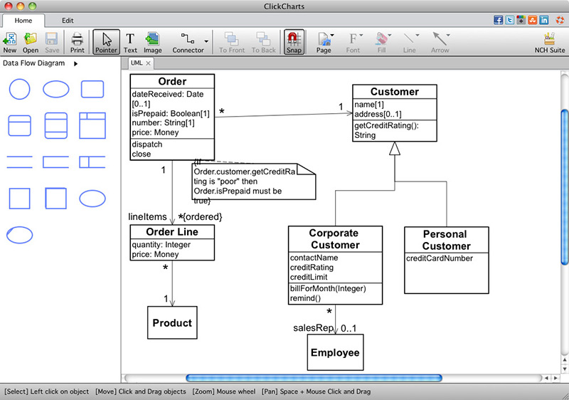 ClickCharts Free Mac FlowChart Software