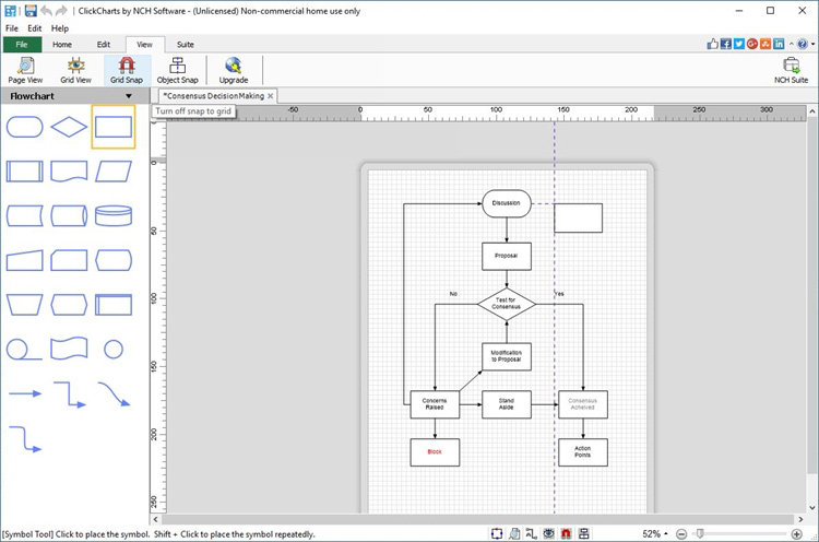clickcharts diagram and flowchart maker screenshots