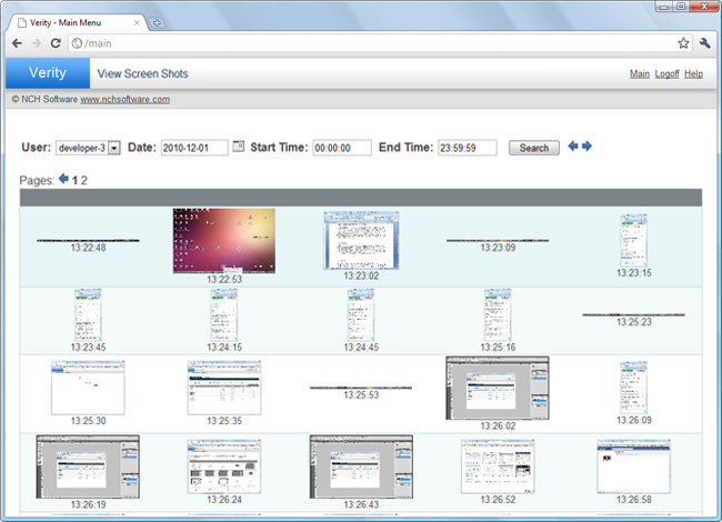 Verity Screenshots Parental Control & Child Monitoring Software