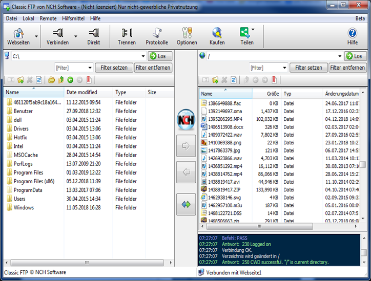 Classic FTP FTP-Programm