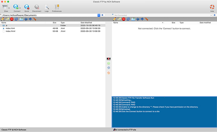 Classic FTP for Mac Screenshot