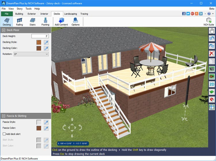 Dreamplan home design landscape planning software - Free home remodeling software ...