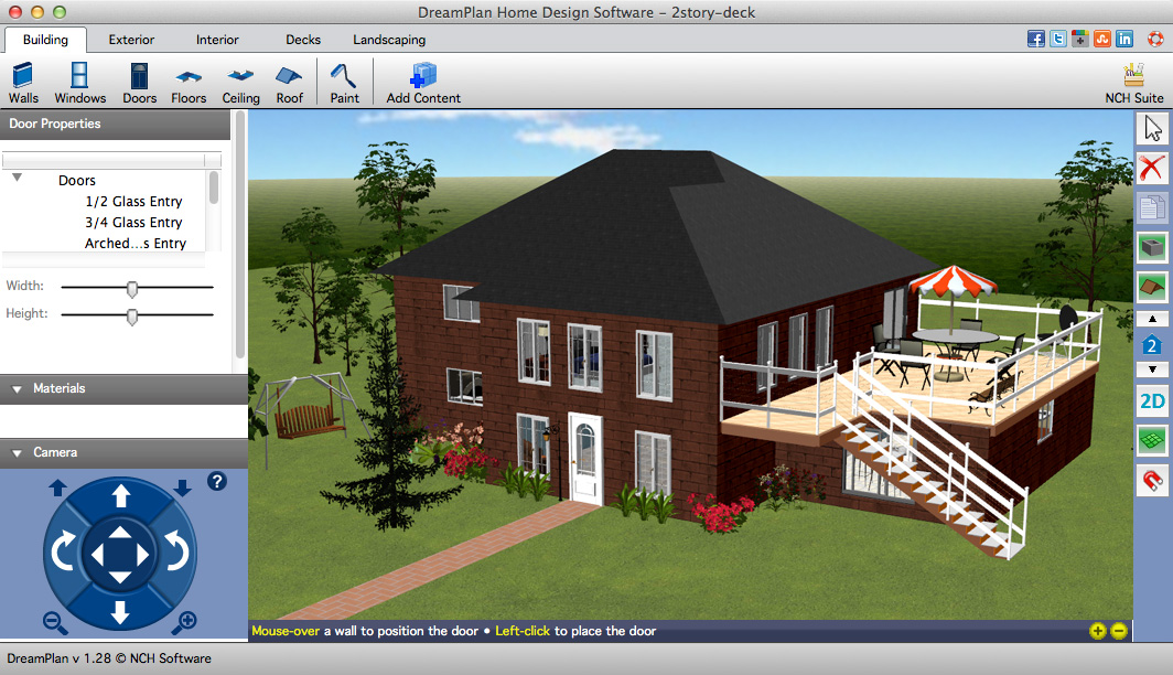 DreamPlan Home Design Software Plus for Mac full screenshot