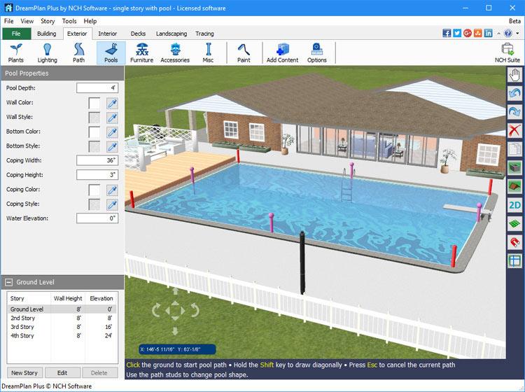 Dreamplan home design landscape planning software for Diy building plans software