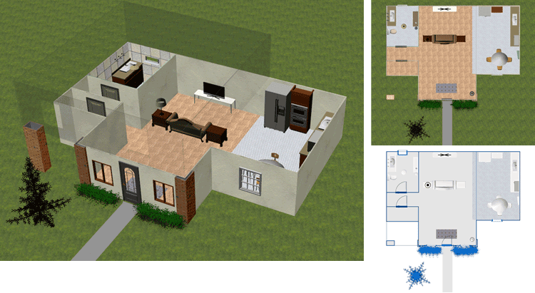 2d home design. View Model in 3D  2D or Blueprint Mode DreamPlan Home Design Landscape Planning Software Screenshots