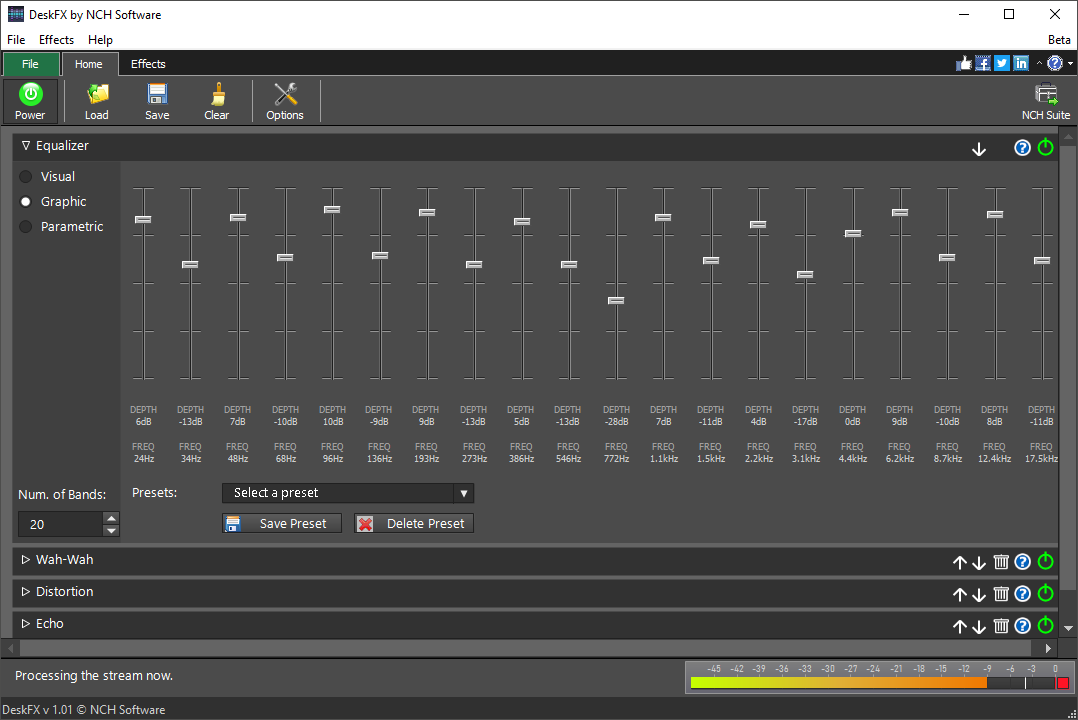DeskFX Free Audio Enhancer Software full screenshot