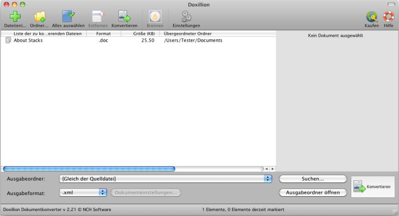 Doxillion Plus Mac Dokumentkonverter