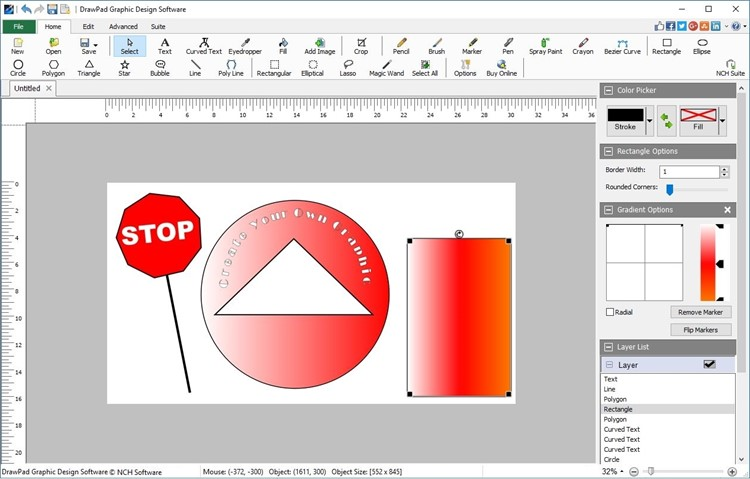 DrawPad Graphic Design allows you to draw create graphics sketches and more! reliable Screen Shot