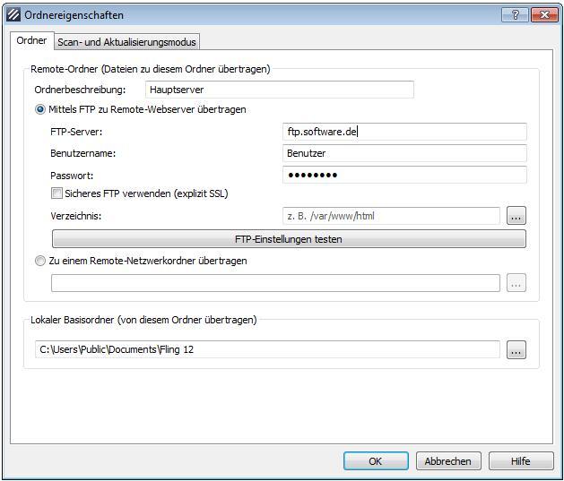 Vorschau Fling Kostenloses FTP-Upload-Programm - Bild 3