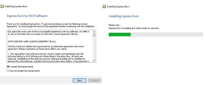 Image displaying how to download Express Burn DVD Menu Maker