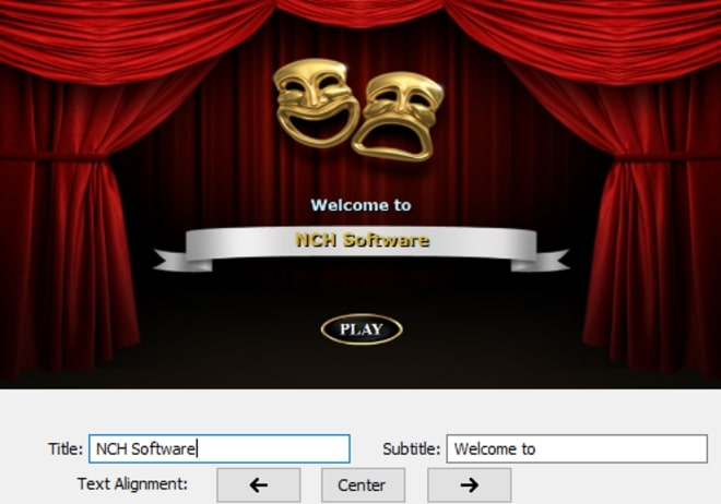 Image displaying how to edit text fields of DVD menu template