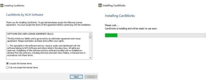 Image displaying how to download CardWorks Business Card Design Software