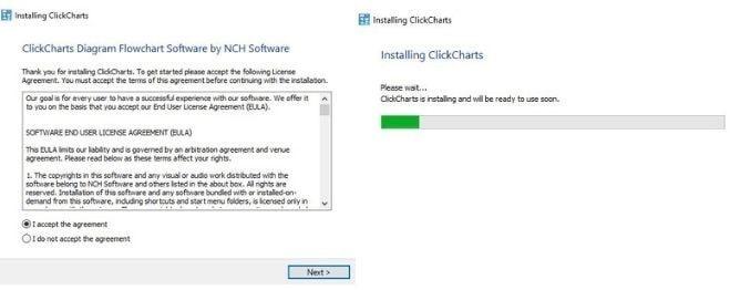 Image displaying how to download ClickCharts Venn Diagram Maker