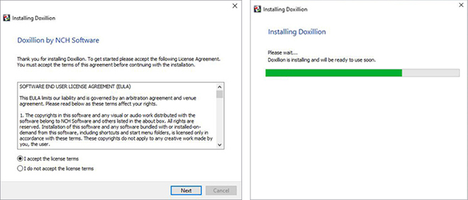 Image displaying how to download Doxillion PDF Converter