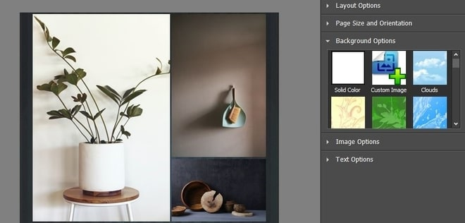 Image displaying how to add a background to a collage