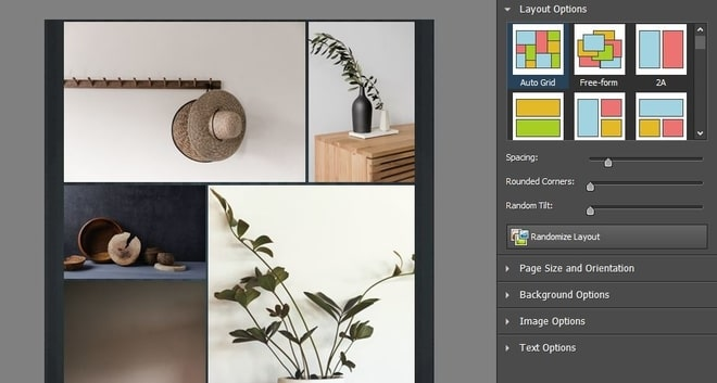 Image displaying how to choose a photo collage layout
