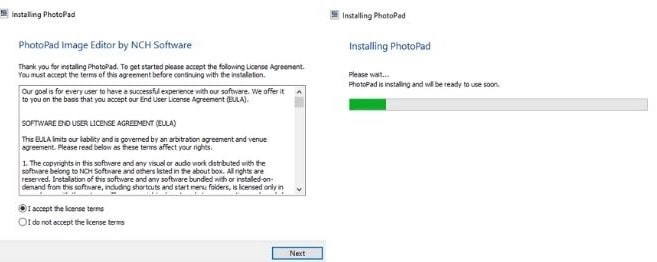Image displaying how to download PhotoPad Photo Editor