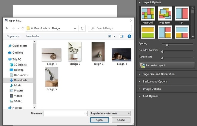 Image displaying how to add photos to collage