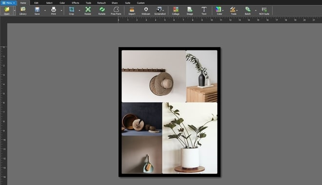 Image displaying how to make a photo collage