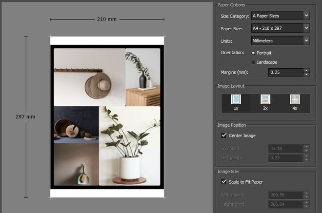 Image displaying how to print photo collage