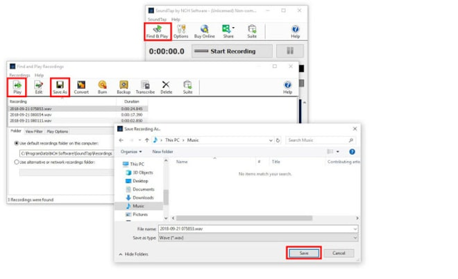 Image displaying how to export recorded computer audio