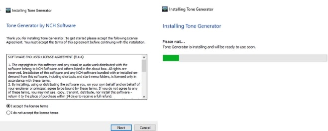 Image displaying how to download Tone Generator Grey Noise Software