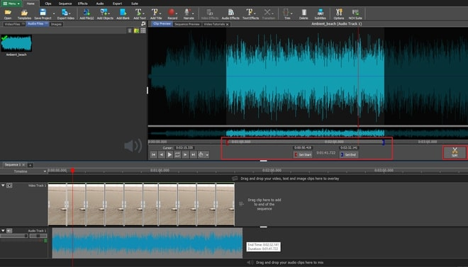 Image displaying how to adjust and edit music in video