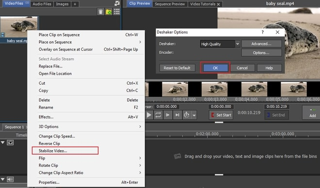 Image displaying how to stabilize shaky video