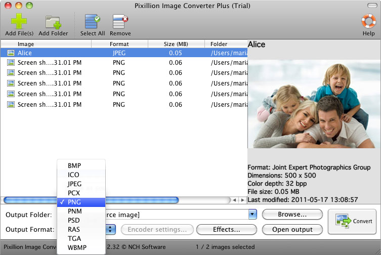 Pixillion Image Converter Plus for Mac full screenshot