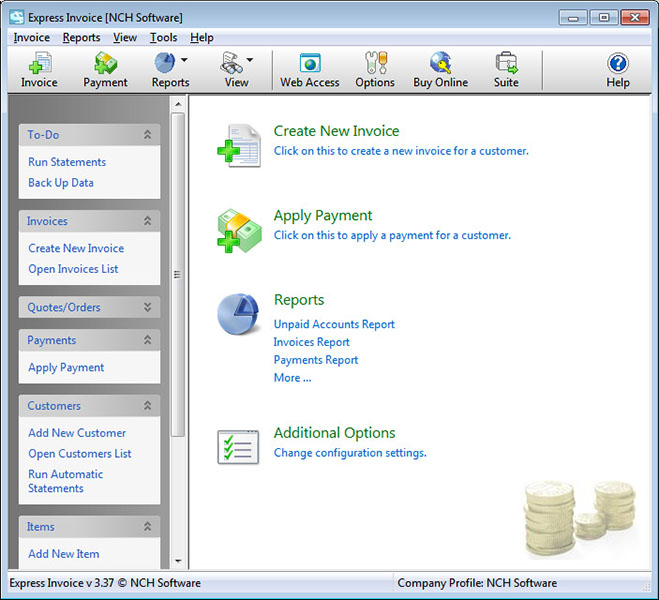 Express Invoice Invoicing Software Free Freeware