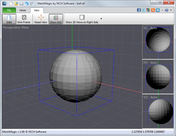 MeshMagic 3D allows users to work with 3D files using an intuitive interface. good Screen Shot