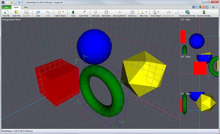 MeshMagic Free 3D Modeling Software Screenshots