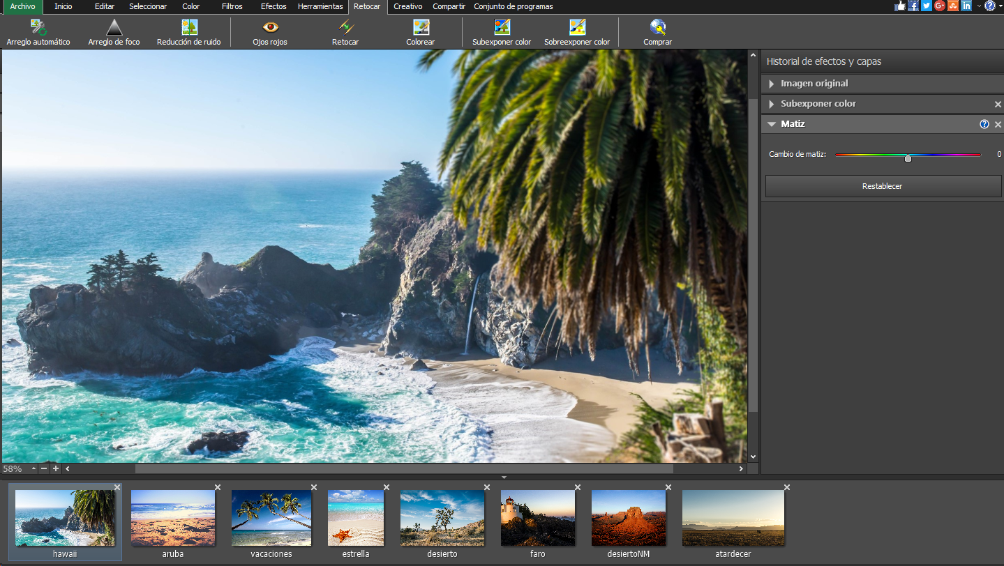 Editor de imágenes y fotos gratuito.