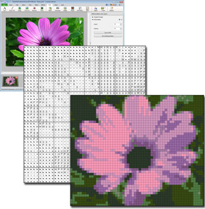 Create patterns from photos with photopad embroidery software download photopad cross stitch design software dt1010fo