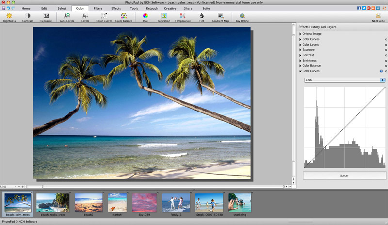PhotoPad Free Mac Image and Photo Editor 5.22