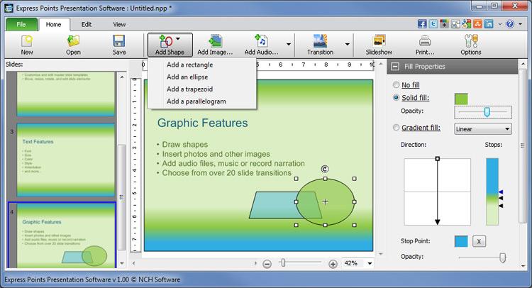 Express Points Presentation Software Screenshots