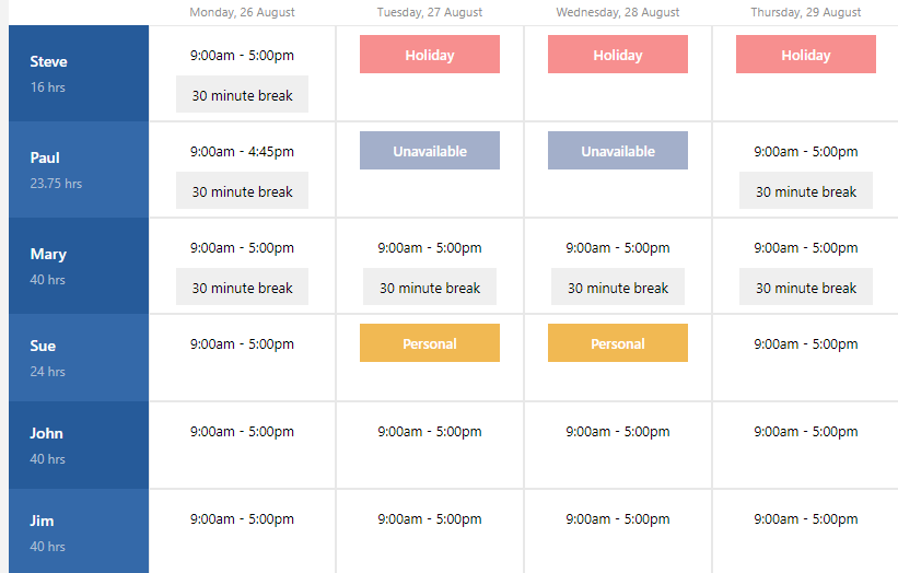 Express Schedule Scheduling Software full screenshot