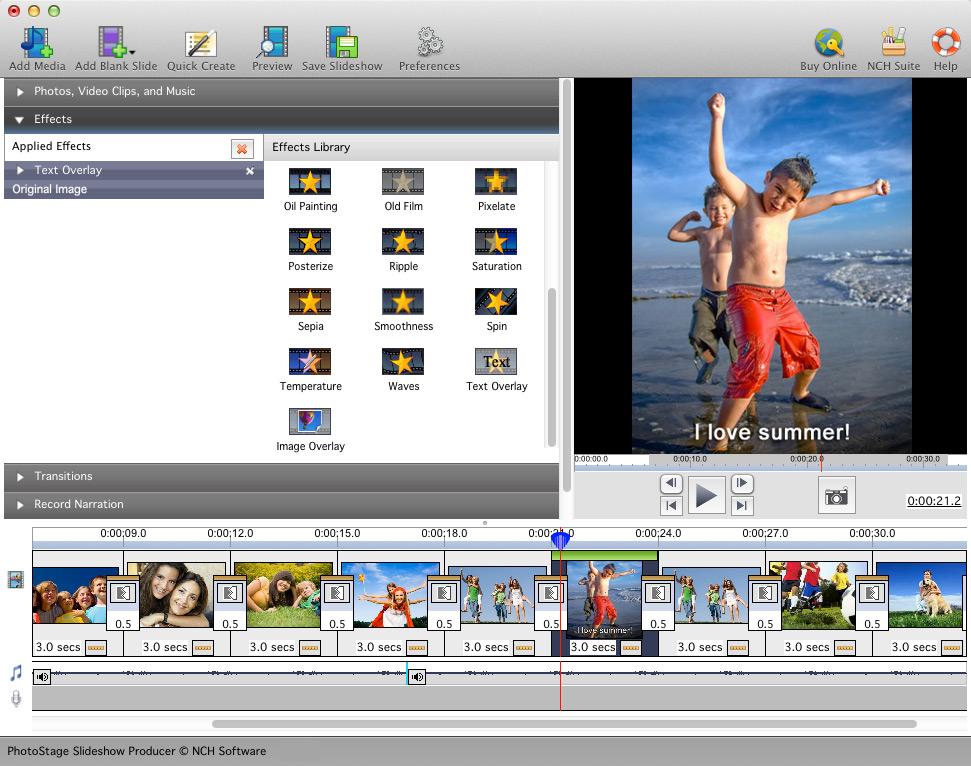 Photostage Slideshow Creator Free Mac full screenshot