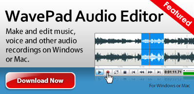 Descargar WavePad, software para editar audio