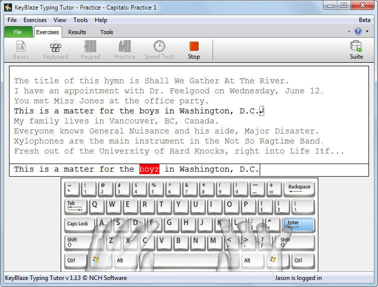 Keyblaze Didacticiel De Dactylographie Captures D Ecrans