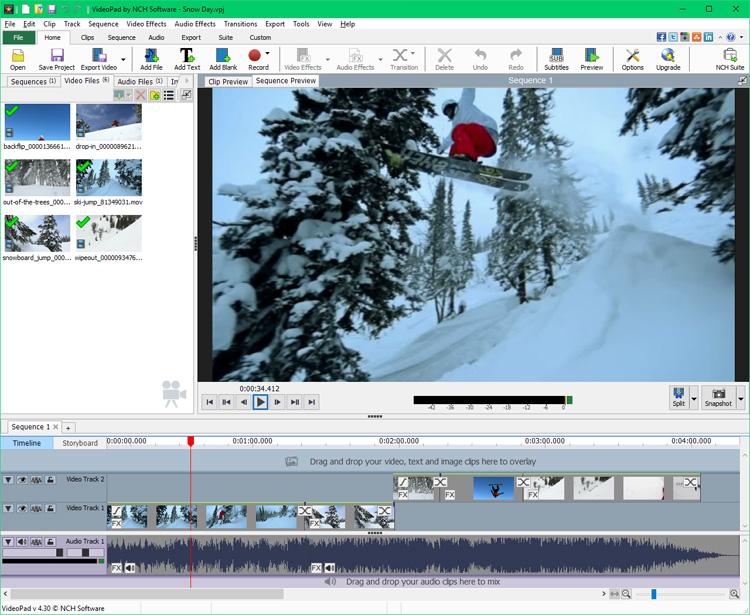 VideoPad Video Editor Free 6.10 full